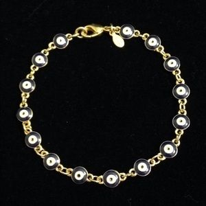 Joan Rivers Blue & Goldtone Evil Eye Bracelet